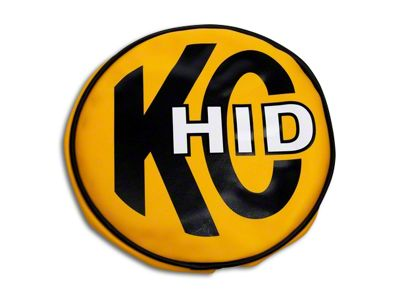 KC HiLiTES 8 in. Soft Vinyl Cover for Round Lights - Yellow w/ KC HID Logo (07-18 Silverado 1500)