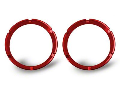 KC HiLiTES Red Bezel Ring for Flex LED