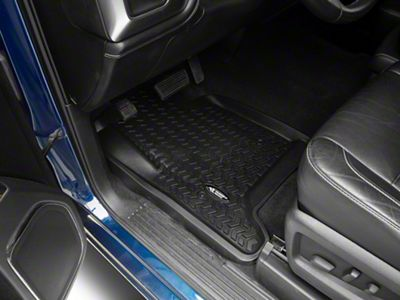 Rugged Ridge All-Terrain Front & 2nd Row Floor Liners - Black (14-18 Silverado 1500 Crew Cab)