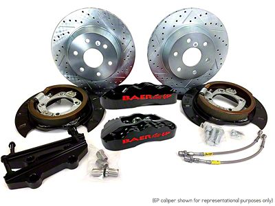 Baer Extreme Rear Brake Kit - Black (07-18 Silverado 1500)