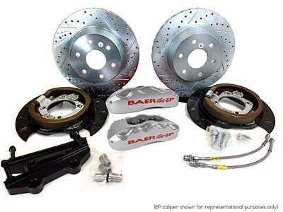 Baer Extreme Rear Brake Kit - Silver (07-18 Silverado 1500)