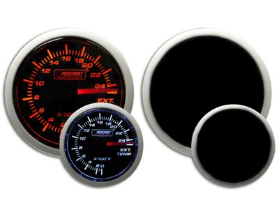 Prosport Dual Color Exhaust Gas Temperature Gauge - Electrical - Amber/White (99-18 Silverado 1500)