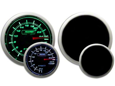 Prosport Dual Color Exhaust Gas Temperature Gauge - Green/White (99-19 Silverado 1500)