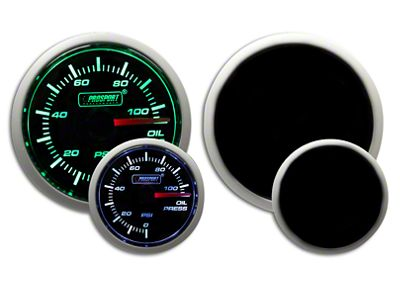 Prosport Dual Color Oil Pressure Gauge - Electrical - Green/White (99-18 Silverado 1500)