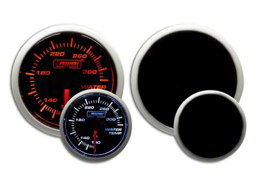 Prosport Dual Color Water Temperature Gauge - Electrical - Amber/White (99-18 Silverado 1500)