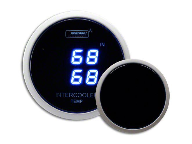 Prosport Dual Intercooler Digital Display Air Temperature Gauge - Blue (99-18 Silverado 1500)