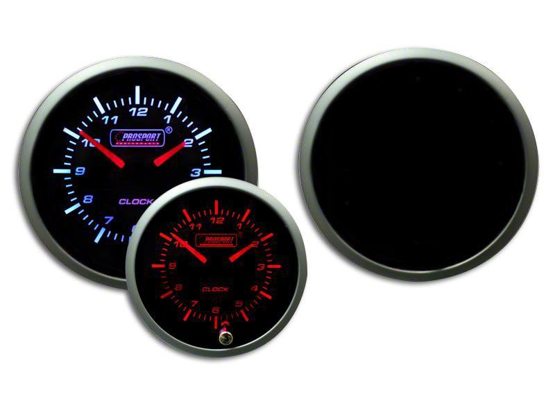 Prosport Premium Analog Clock - Amber/White (99-18 Silverado 1500)