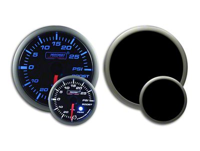 Prosport Dual Color Premium Boost Gauge - Electrical - Green/White (99-18 Silverado 1500)