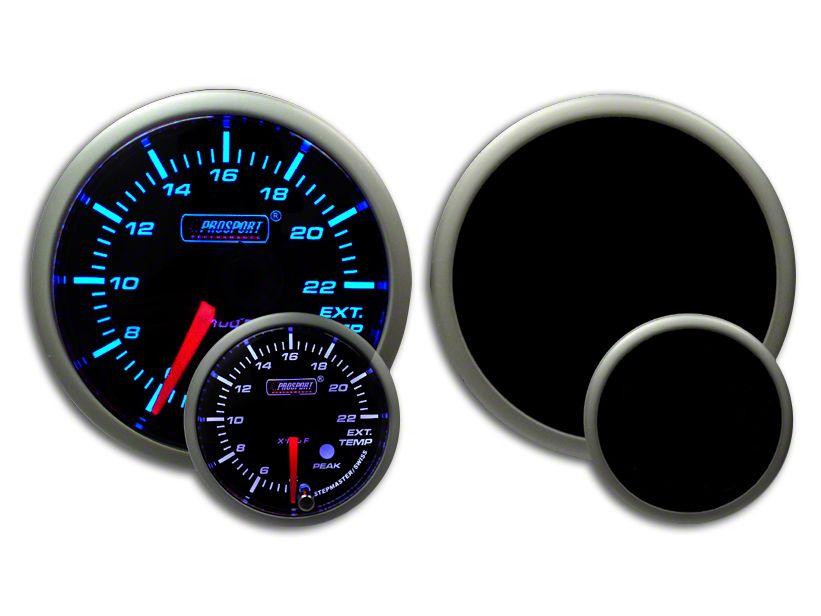 Prosport Dual Color Premium EGT Gauge - Blue/White (99-18 Silverado 1500)