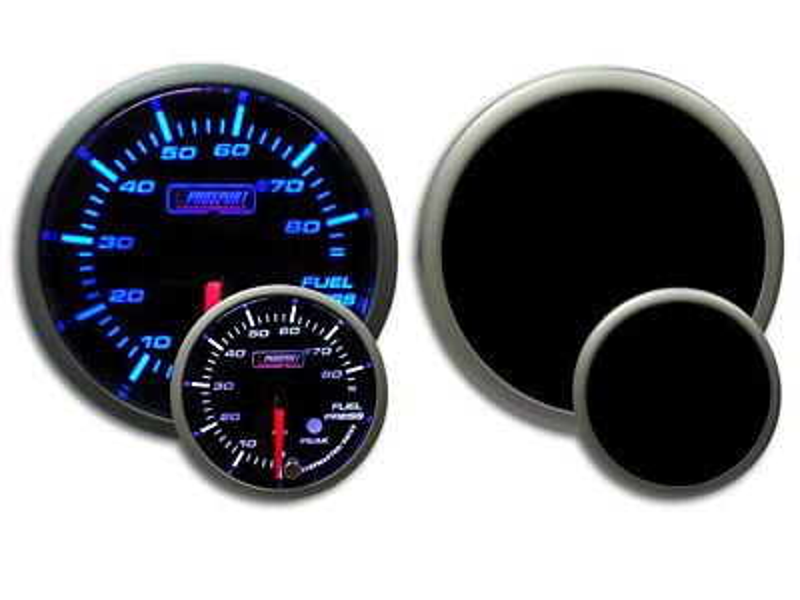 Prosport Dual Color Premium Fuel Pressure Gauge - Blue/White (99-18 Silverado 1500)