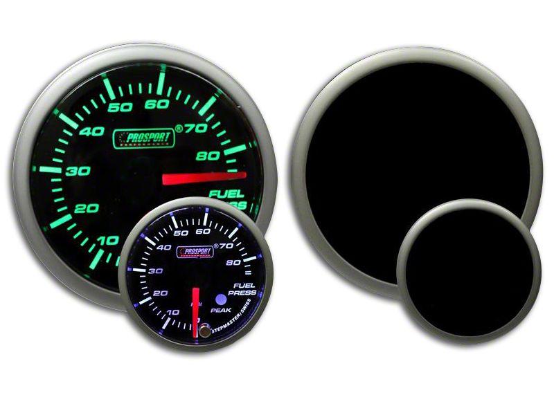 Prosport Dual Color Premium Fuel Pressure Gauge - Green/White (99-18 Silverado 1500)