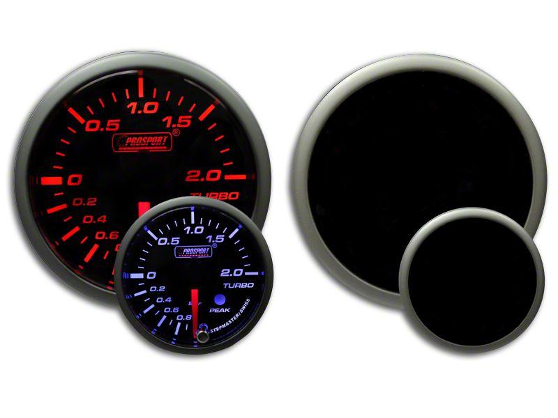 Prosport Dual Color Premium Metric Boost Gauge - Amber/White (99-18 Silverado 1500)