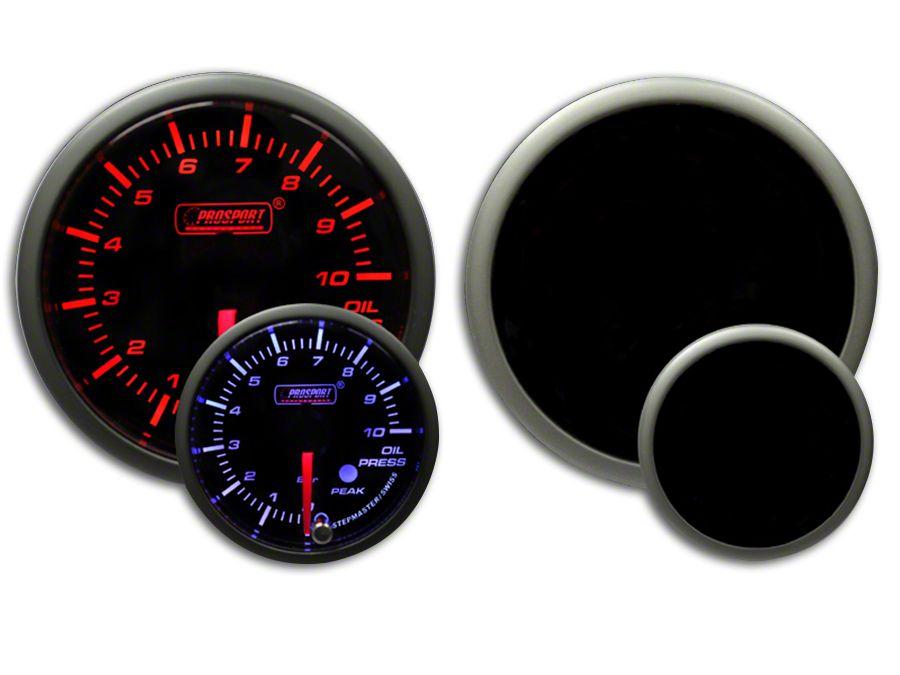 Prosport Dual Color Premium Metric Oil Pressure Gauge - Amber/White (99-18 Silverado 1500)