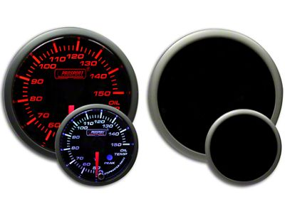 Prosport Dual Color Premium Metric Oil Temperature Gauge - Amber/White (99-18 Silverado 1500)