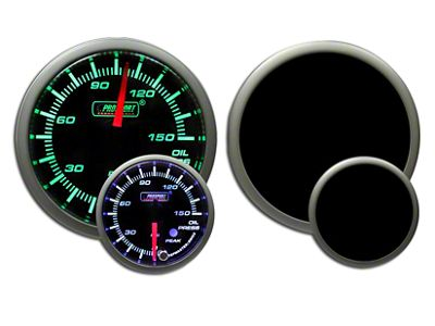 Prosport Dual Color Premium 0-150 PSI Oil Pressure Gauge - Green/White (99-18 Silverado 1500)