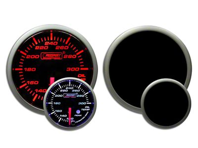Prosport Dual Color Premium Oil Temperature Gauge - Amber/White (99-18 Silverado 1500)