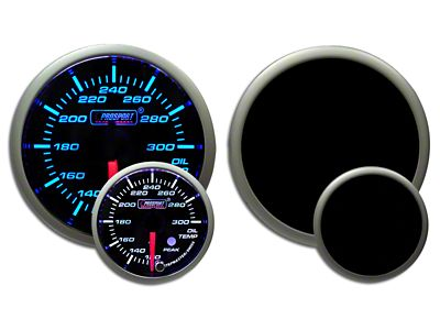 Prosport Dual Color Premium Oil Temperature Gauge - Blue/White (99-18 Silverado 1500)
