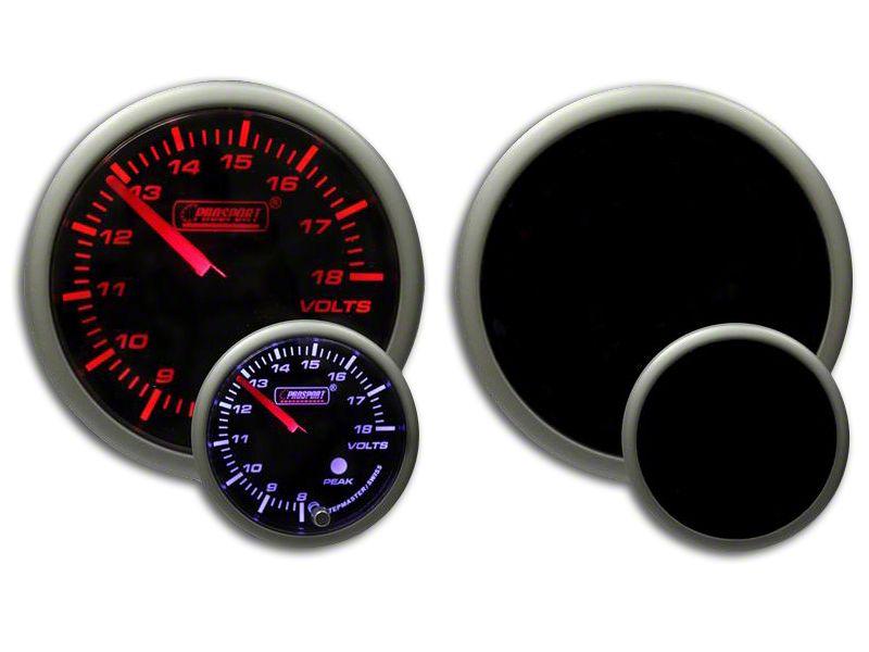 Prosport Dual Color Premium Volt Gauge - Amber/White (99-18 Silverado 1500)