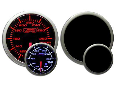 Prosport Dual Color Premium Water Temperature Gauge - Amber/White (99-18 Silverado 1500)
