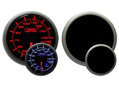 Prosport Dual Color Premium Metric Water Temperature Gauge - Amber/White (99-18 Silverado 1500)