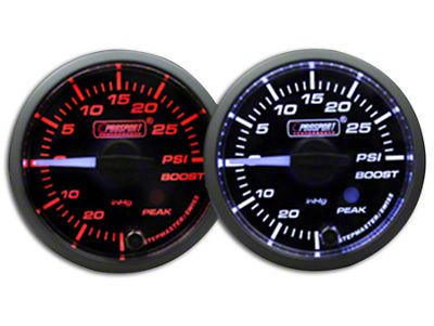 Prosport Dual Color Premium White Pointer Boost Gauge - Amber/White (99-18 Silverado 1500)