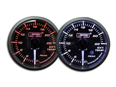 Prosport Dual Color Premium White Pointer EGT Gauge - Amber/White (99-18 Silverado 1500)