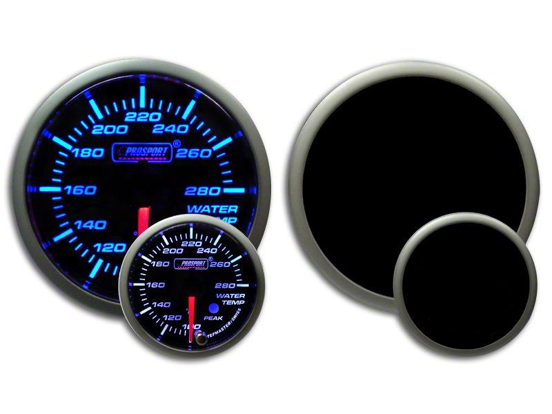 Prosport Premium Water Temperature Gauge - Blue/White (99-18 Silverado 1500)