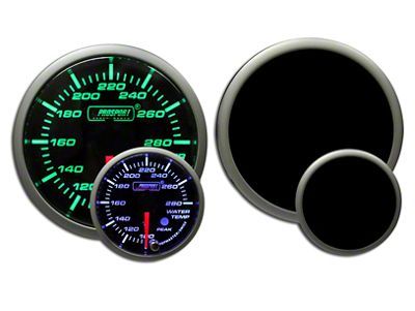 Prosport Premium Water Temperature Gauge - Green/White (99-18 Silverado 1500)