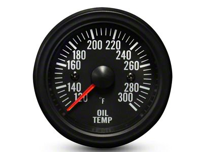 Prosport White LED Oil Temperature Gauge - Electrical (99-19 Silverado 1500)