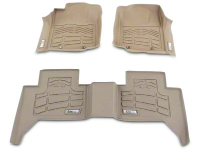 Wade Sure-Fit 2nd Row Floor Mat - Tan (07-13 Silverado 1500 Extended Cab, Crew Cab)