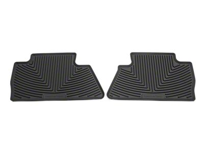 Weathertech All Weather Rear Rubber Floor Mats - Cocoa (14-18 Silverado 1500 Double Cab, Crew Cab)