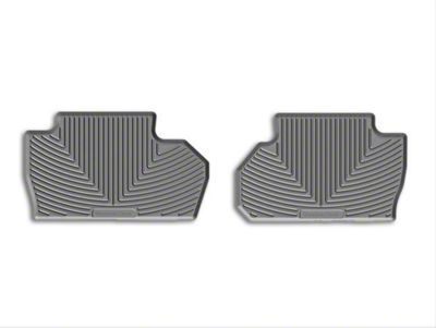 Weathertech All Weather Rear Rubber Floor Mats - Gray (14-18 Silverado 1500 Double Cab, Crew Cab)