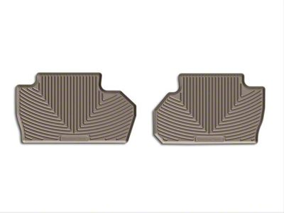 Weathertech All Weather Rear Rubber Floor Mats - Tan (14-18 Silverado 1500 Double Cab, Crew Cab)