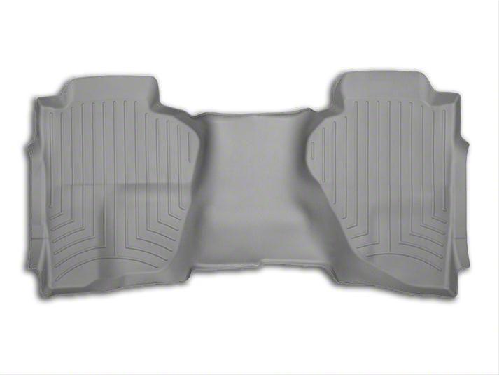 Weathertech DigitalFit Rear Floor Liner - Gray (14-18 Silverado 1500 Double Cab, Crew Cab)
