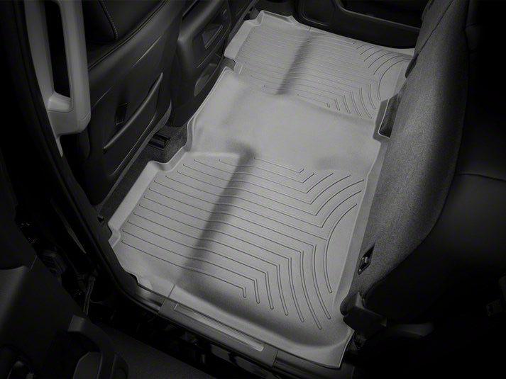 Weathertech DigitalFit Rear Floor Liner w/ Underseat Coverage - Gray (14-18 Silverado 1500 Crew Cab)