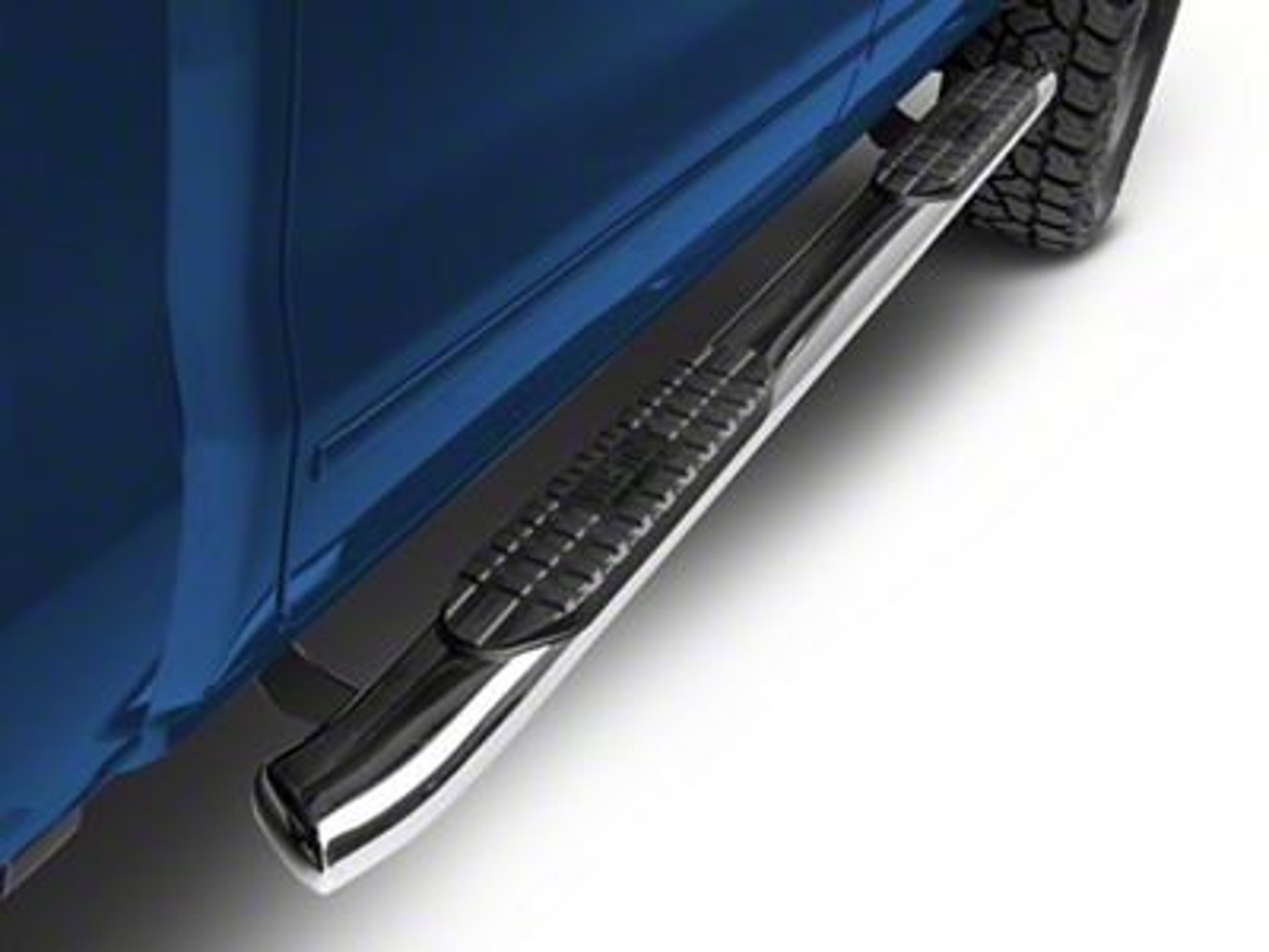 Westin Pro Traxx 5 in. Oval Side Step Bars - Stainless Steel (14-18 Silverado 1500)