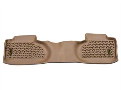 Barricade Rear Floor Mat - Tan (14-18 Silverado 1500 Double Cab, Crew Cab)
