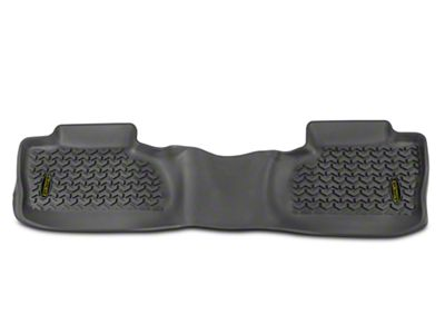Barricade Rear Floor Mat - Gray (14-18 Silverado 1500 Double Cab, Crew Cab)