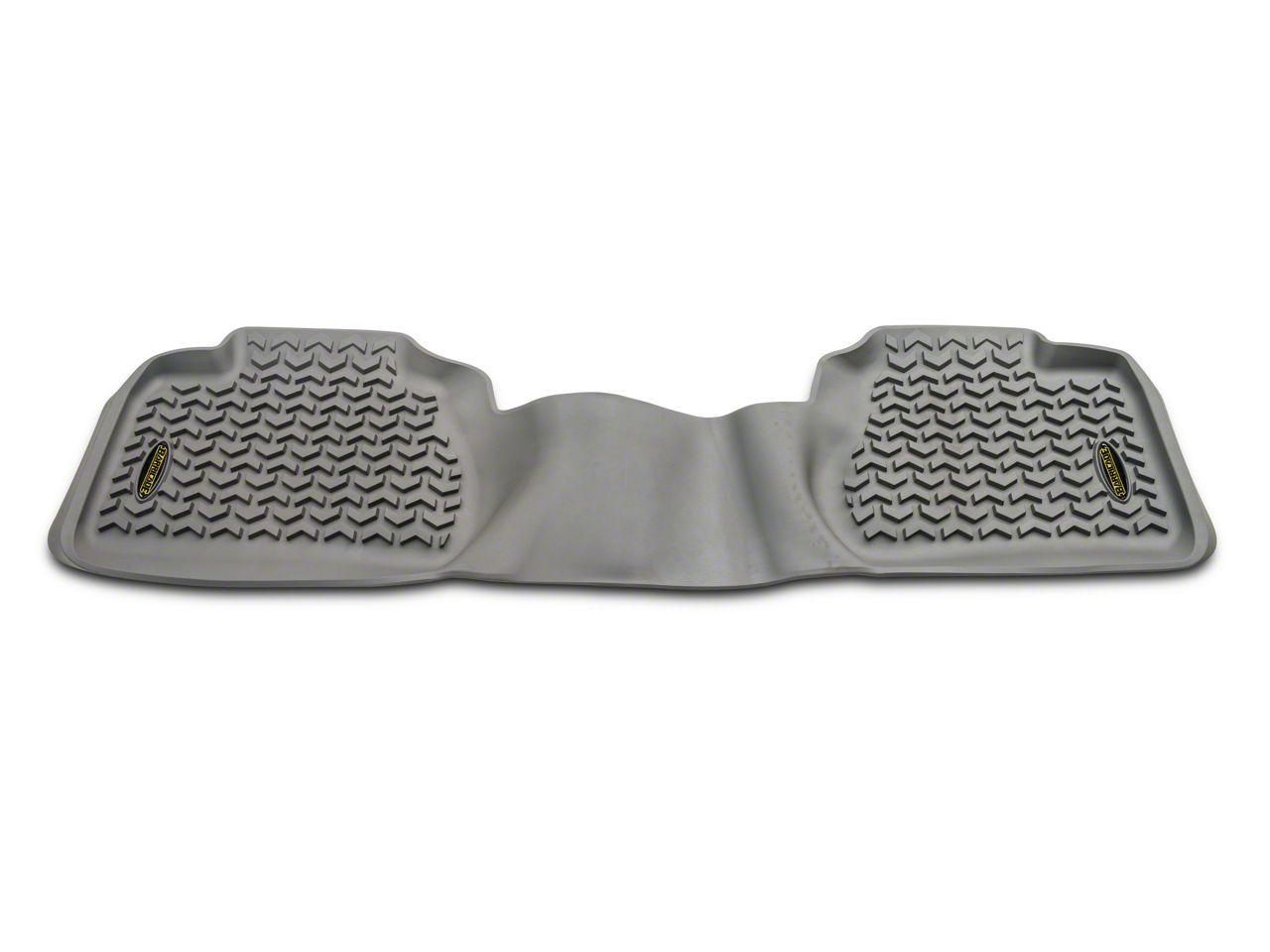 Barricade Rear Floor Mat - Gray (07-13 Silverado 1500 Extended Cab)