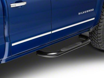 Steel Craft 3 in. Blackout Series Body Mount Side Step Bars (14-18 Silverado 1500 Regular Cab, Crew Cab)