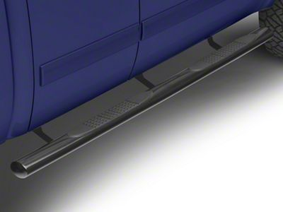 Steel Craft 4X Series 4 in. Oval Side Step Bars - Black - Rocker Panel Mount (07-13 Silverado 1500 Extended Cab, Crew Cab)