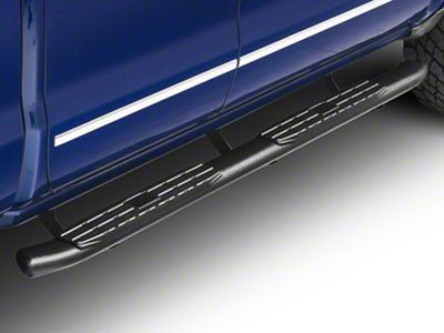 Steel Craft 4X Series 4 in. Oval Rocker Mount Side Step Bars - Black (14-18 Silverado 1500 Double Cab, Crew Cab)
