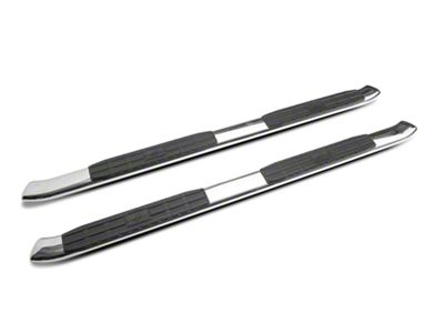 Steel Craft 4X Series 4 in. Oval Side Step Bars - Stainless Steel - Rocker Panel Mount (14-18 Silverado 1500 Double Cab, Crew Cab)