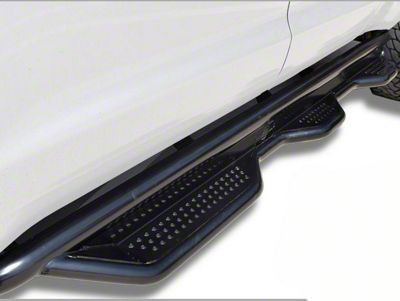 Steel Craft Heavy Duty Wheel-to-Wheel Side Step Bars - Textured Black (07-13 Silverado 1500 Extended Cab w/ Standard Box)