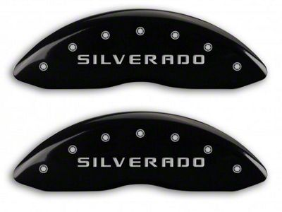 MGP Black Caliper Covers w/ Silverado Logo - Front Only (07-13 Silverado 1500)