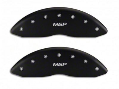 MGP Matte Black Caliper Covers w/ MGP Logo - Front & Rear (07-13 Silverado 1500)
