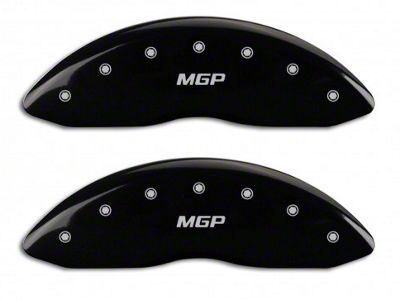 MGP Matte Black Caliper Covers w/ MGP Logo - Front & Rear (14-18 Silverado 1500)