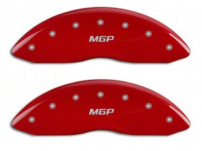 MGP Red Caliper Covers w/ MGP Logo - Front Only (07-13 Silverado 1500)