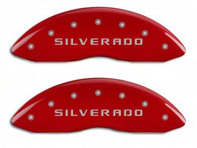 MGP Red Caliper Covers w/ Silverado Logo - Front Only (07-13 Silverado 1500)