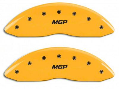 MGP Yellow Caliper Covers w/ MGP Logo - Front Only (07-13 Silverado 1500)